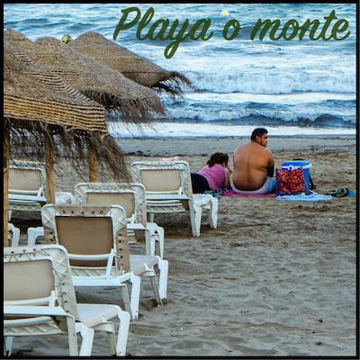 Monte o playa